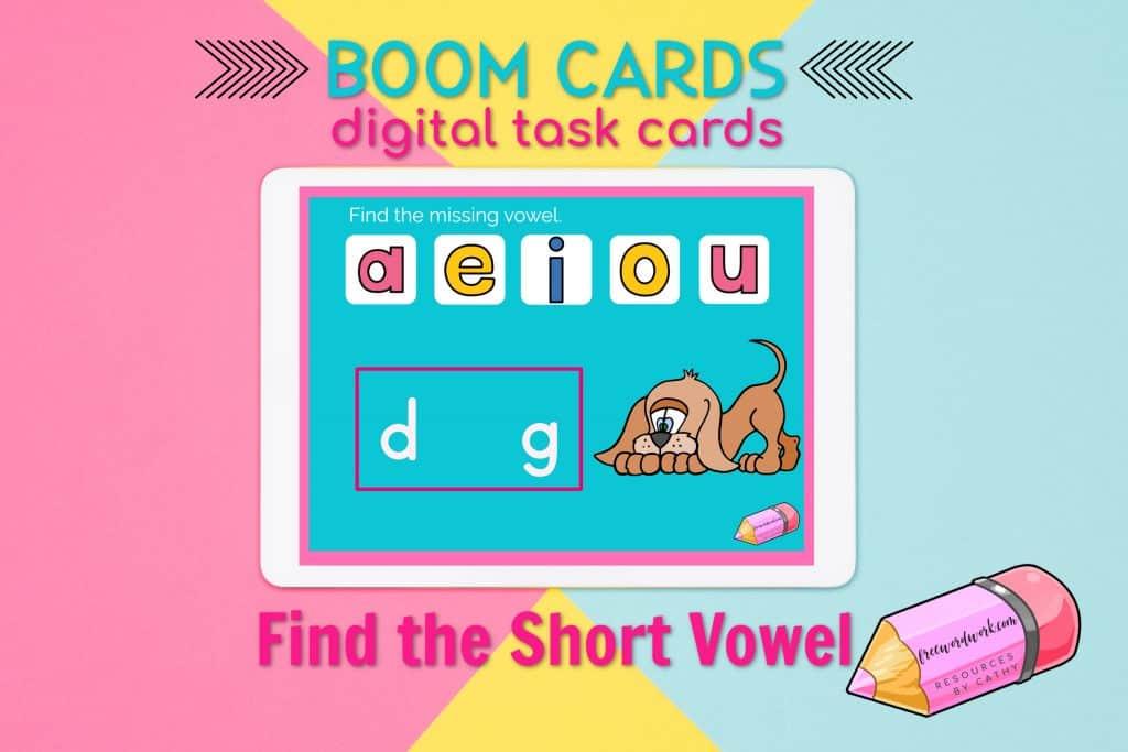 Short Vowel Boom Cards