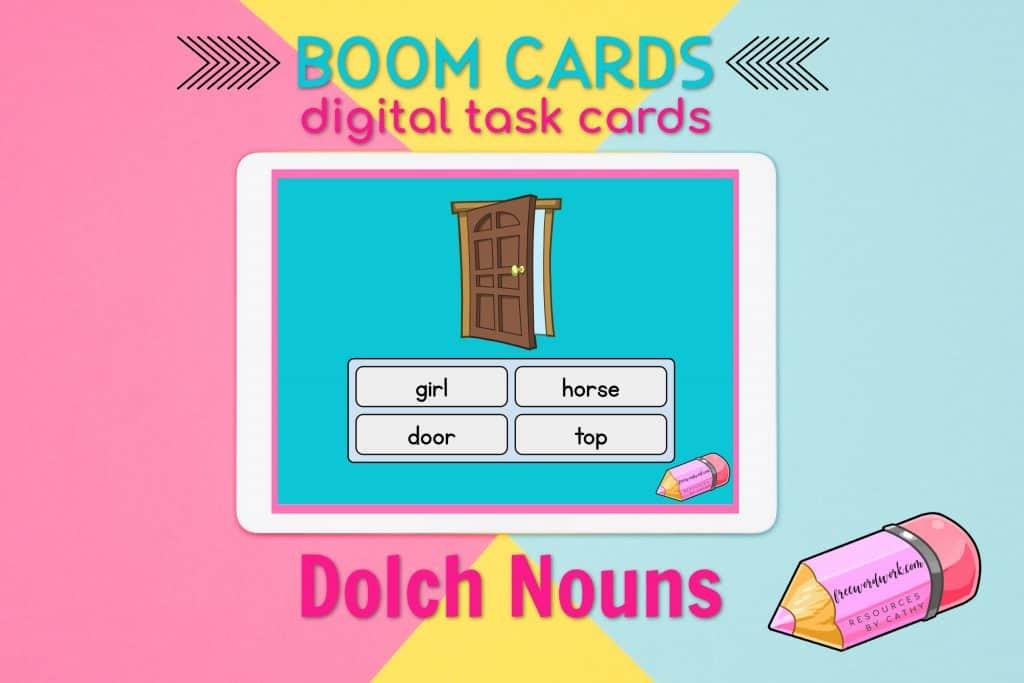 Dolch Noun Boom Cards