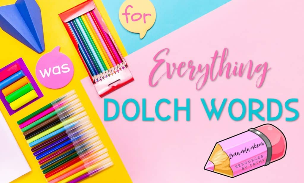 Free Dolch Word Resources