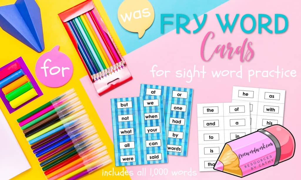 Fry Word Cards