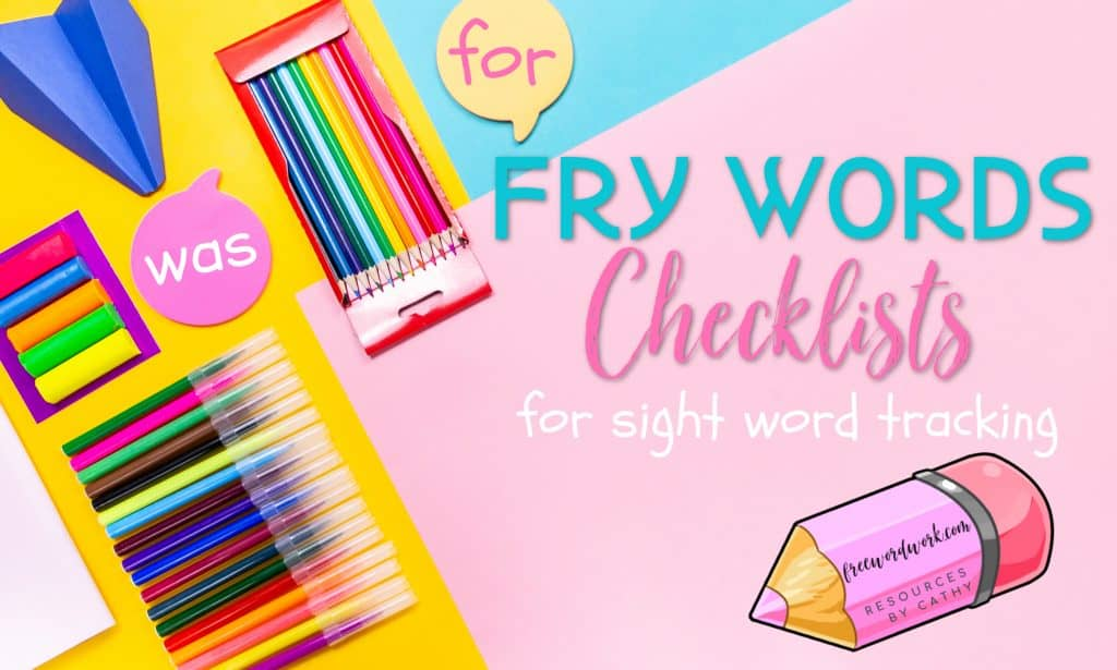 Fry Word Checklists