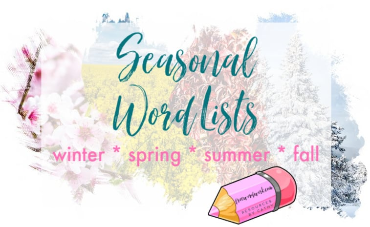 Save yourself time and energy by using our seasonal word lists for your classroom planning.