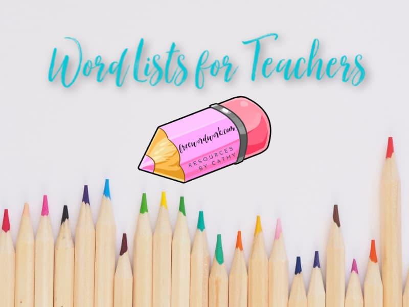 Word Lists for Teachers