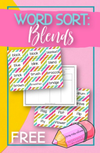 This free blend word sort can become a word work center during your literacy rotations in your classrooms.